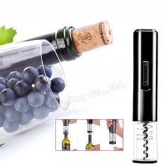 Electric Wine Opener Corkscrew Automatic Wine Bottle Opener Kit Cordless With Foil Cutter And Vacuum Stopper Kitchen Bar Gadgets Wine Bottle Opener, Beer Bottle, Massage, Electric Wine Opener, Open Set, Spa, Kitchen Tools And Gadgets, Corks, Color