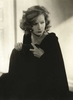 Greta Garbo by photographer Edward Steichen.