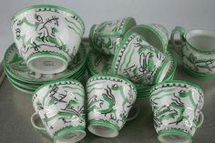 Ernest Procter for foley Harrods, Crock, Table Settings, Lord, Pottery, Plates, Pure Products, Dishes, Antiques