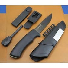 Couteau Mora Bushcraft Survival Ultimate Lame Acier Carbone Manche Abs + Start Fire Made In Sweden 11742 - Free Shipping Couteaux BELIGNE
