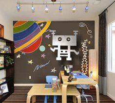 """Robot, Robots, Kids Art, Metal Wall Art, Kids Rooms, Childrens Wall Art  """"Bobot """"BEE"""". $70.00, via Etsy....little boys room"""