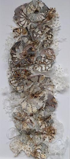 Fungi/Lichen embroidery. marianjazmik.co.uk