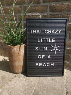7x leuke quotes voor in de zomer. Kom in zomerse sferen met deze leuke zomer quotes! Geschikt voor op je letterbord en sommige ook voor op de lightbox. Ook leuk om de quotes gewoon als poster in een fotolijstje te stoppen! Quote: ''That crazy little sun of a beach'' Boxing Quotes, Beach Quotes, Journal, Lettering, Drawing Letters, Brush Lettering, Beach Sayings