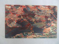 VINTAGE LINEN POSTCARD AERIAL VIEW OF GRAND CANYON VILLAGE ARIZONA 1947