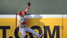 That's Mike Trout of the Angels saving a home run and this is why I love baseball.