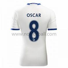 Billige Fotballdrakter Chelsea 2016-17 Oscar 8 Tredje Draktsett Kortermet