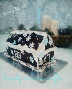 Xριστουγεννιάτικο σπιτάκι κέικ!!