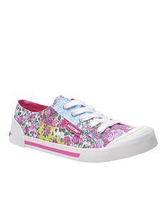 Pink Rose Medley Sneaker #zulilyfinds