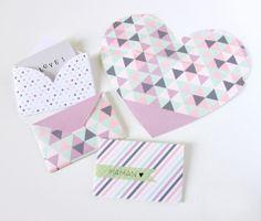 Imprimible: sobres de corazones