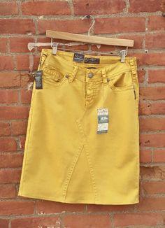 nice Custom Order -Silver Brand Denim Jean Skirt from New Silver Skinny jeans Jeans