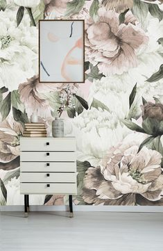 Blush Spring Peonies Removable Wallpaper-Peel and Stick Wallpaper-Wall Mural- Self Adhesive Wallpaper by AnniStudioShop on Etsy Wallpaper Wall, Self Adhesive Wallpaper, Peel And Stick Wallpaper, Accent Wallpaper, Bedroom Wallpaper, Aesthetic Iphone Wallpaper, Aesthetic Wallpapers, Bedroom Decor, Wall Decor