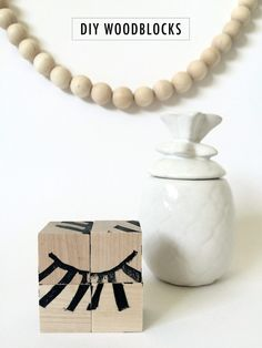 DIY: Woodblocks with (Custom) / Eye Rubber-stamps