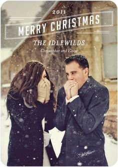 Christmas card option & would be cute for engagement photos