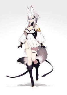 for More Hot Anime Girl Go to Our Website Hotgirlhub Anime Art Fantasy, Art Manga, Manga Anime, Hot Anime, Anime Style, Neko, Character Concept, Character Art, Fox Girl