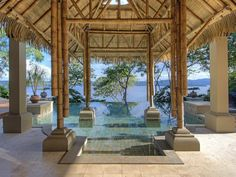 When Serenity + Zen Meet In Your Own Backyard In Costa Rica, You Know You're Home  -Coldwell Banker Global Luxury #luxuryzen #luxuryzenlivingrooms