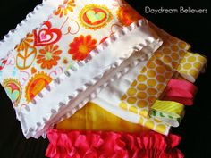 Daydream Believers Designs: Embellished Baby Burp Cloths