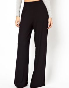 Black Slim Waist Knitted Trouser 8-12