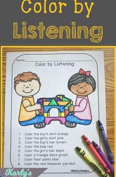 Listening Activities For Kids, First Week Activities, Active Listening, Listening Skills, Speech Therapy Activities, Language Activities, Listening Games, Ielts Listening, Preschool Lessons