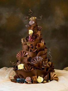 Chocolate wrap cake by Paul Bradford Designer Cakes