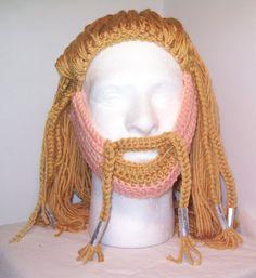 Fili beard made of yarn for The Hobbit. Ahaha niceeeee! Would you wear this @Rhyan Johnson Johnson Gregersen ?