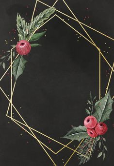 Geometric frame - Free Christmas Invitation Template | Greetings Island