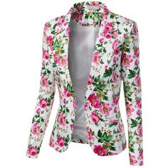 So sweet for summer. Jtomson - Freedom of Fashion - Womens Trendy Floral Print Blazer Jacket Floral Blazer, Floral Jacket, Blazers For Women, Jackets For Women, Shop Jackets, Elegantes Outfit, Oversized Dress, Printed Blazer, Blazer Fashion