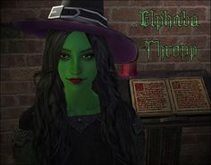 Twisted Fairytale - Elphaba as a Sim.