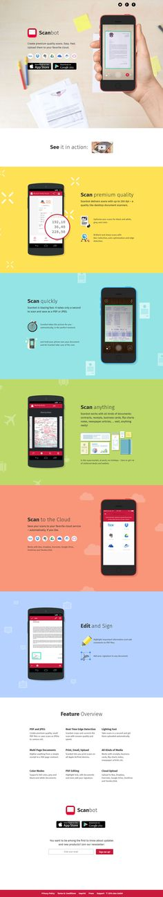 Unique Web Design, Scanbot #WebDesign #Design (http://www.pinterest.com/aldenchong/)