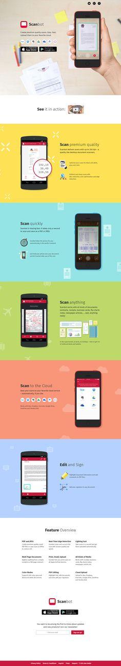 Unique Web Design, Scanbot #WebDesign #Design (http://www.pinterest.com/aldenchong/)