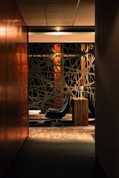 Modern and Luxurious Tebfin Office Interior Design by Source Interior Brand Architect - Home Design Inspiration Modern Office Design, Contemporary Office, Contemporary Interior Design, Office Interior Design, Home Interior, Exterior Design, Interior And Exterior, Interior Modern, Interior Ideas