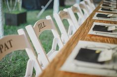 Reception Head Table Chairs - design by Ashton Events | photo by By the Robinsons http://ruffledblog.com/sunken-gardens-florida-wedding