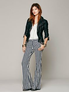 Free People Avery Striped Trouser at Free People Clothing Boutique