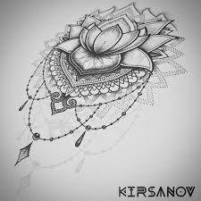 Bildergebnis für lace lotus tattoo black and white