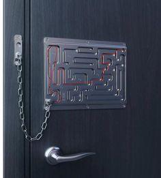 maze door lock.    https://fbcdn-sphotos-a.akamaihd.net/hphotos-ak-ash3/554488_462054417153335_163205100371603_1836205_1230068493_n.jpg