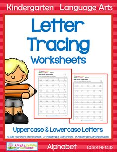 These letter tracing worksheets provide plenty of letter formation practice for both upper and lowercase letters. One page per upper and lowercase letter.