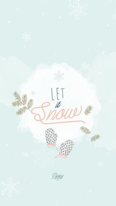 Snow Christmas New Year iPhone Lock Wallpaper @PanPins