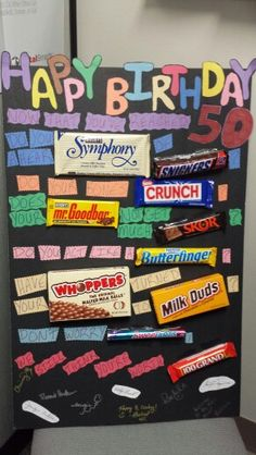 50th Birthday Candy Poster Card Diy Things I Ve Made