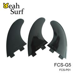 Surfing FCS G5 Fins Black Pure Color Plastic Quad Fin Surfboard Fin Free Shipping  #Affiliate