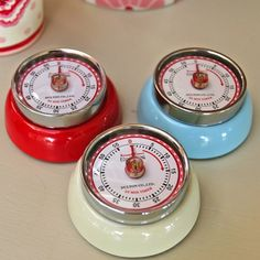 Magnetic retro kitchen timers - I got mine at World Market and I love it! I need to get a couple more