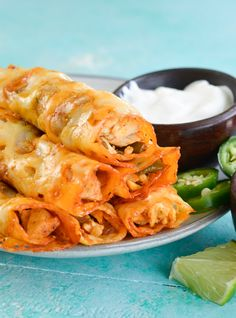 For a low carb snack or dinner try these Keto Chicken Fajita Taquitos! Crispy cheese shells are packed with chicken and vegetables and come to just 1.3 net carbs per serving! I have always loved fajitas! There is something so satisfying about grilled chicken or steak alongside tender vegetables in a zesty lime sauce! These Sheet Pan Chicken Fajitas are one