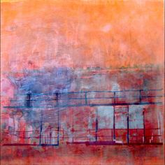 Bianca Pratorius,   encaustic on canvas mounted on wood, 36 x 36 inches