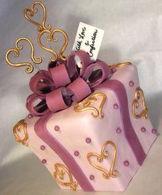 """@KatieSheaDesign ♡❤ #Cakes ❤♡ ♥ ❥ """"Hearts of Gold"""" birthday cake"""