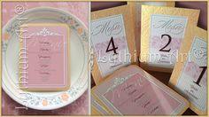 "Menú & Identificadores de Mesa ""Vintage Deluxe""   Lythium Art® Design by: Yil Siritt"