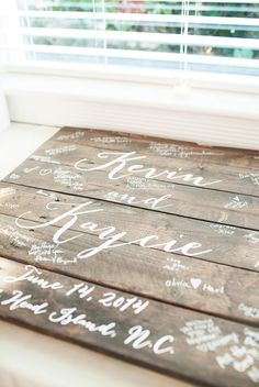 Unique Wedding Guestbook Pallet Sign by pixelsandwood on Etsy