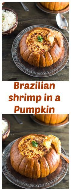 Brazilian shrimp in a Pumpkin