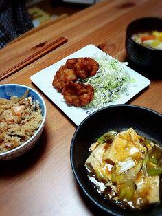 炊き込みご飯が上手く出来た(*´∀`*)ノ - 5件のもぐもぐ - 本日の夕食☆ by stkzy05020523