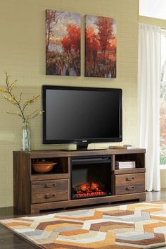 Lieblich LG TV Stand W/ Fireplace Option | Ashley | Home Gallery Stores