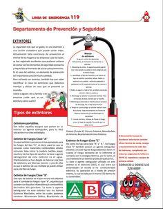 Consejos prácticos para usar el extintor. Página 3 de la Revista Línea de Emergencia 119, Edición No. 2