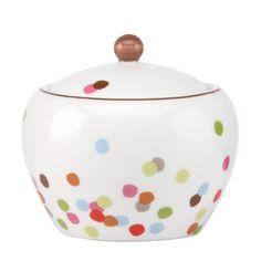 kate spade new york Market Street Sugar Bowl by Lenox Color Me Mine, Casual Dinnerware, Designing Women, Home Goods, Polka Dots, Kate Spade, Pottery, Tableware, Kitchenware