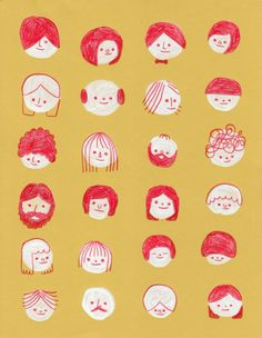 Fashion Illustration Patterns The Illustration of Hiller Goodspeed - Simple Illustration, Children's Book Illustration, Character Illustration, Illustrations And Posters, Cute Art, Illustrators, Cute Drawings, Character Design, Creations